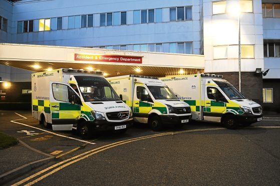 The entrance to A&E in Ninewells