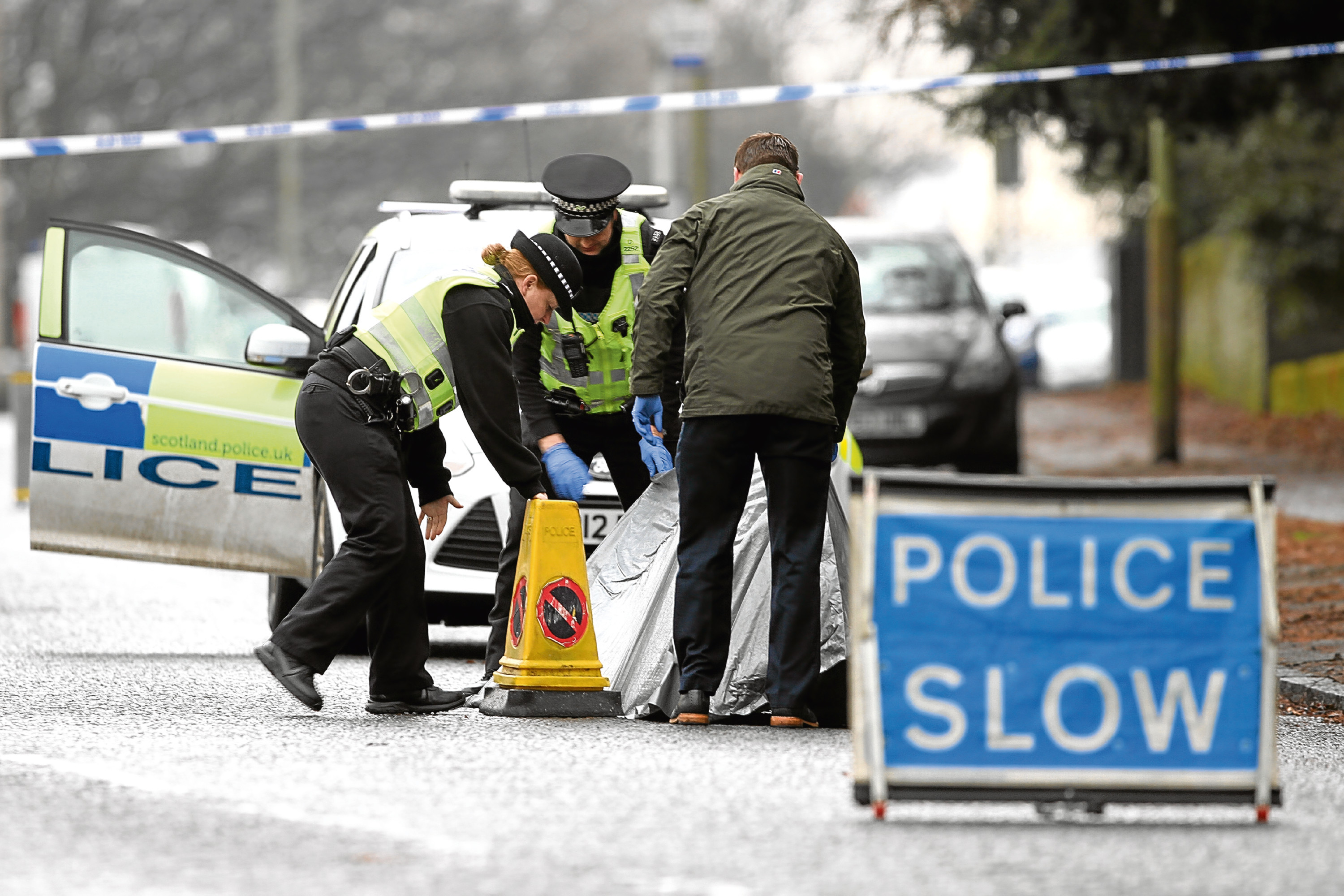 Police in Charleston Drive, Dundee