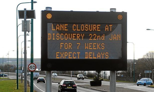 The lane closure will take place at Riverside Drive