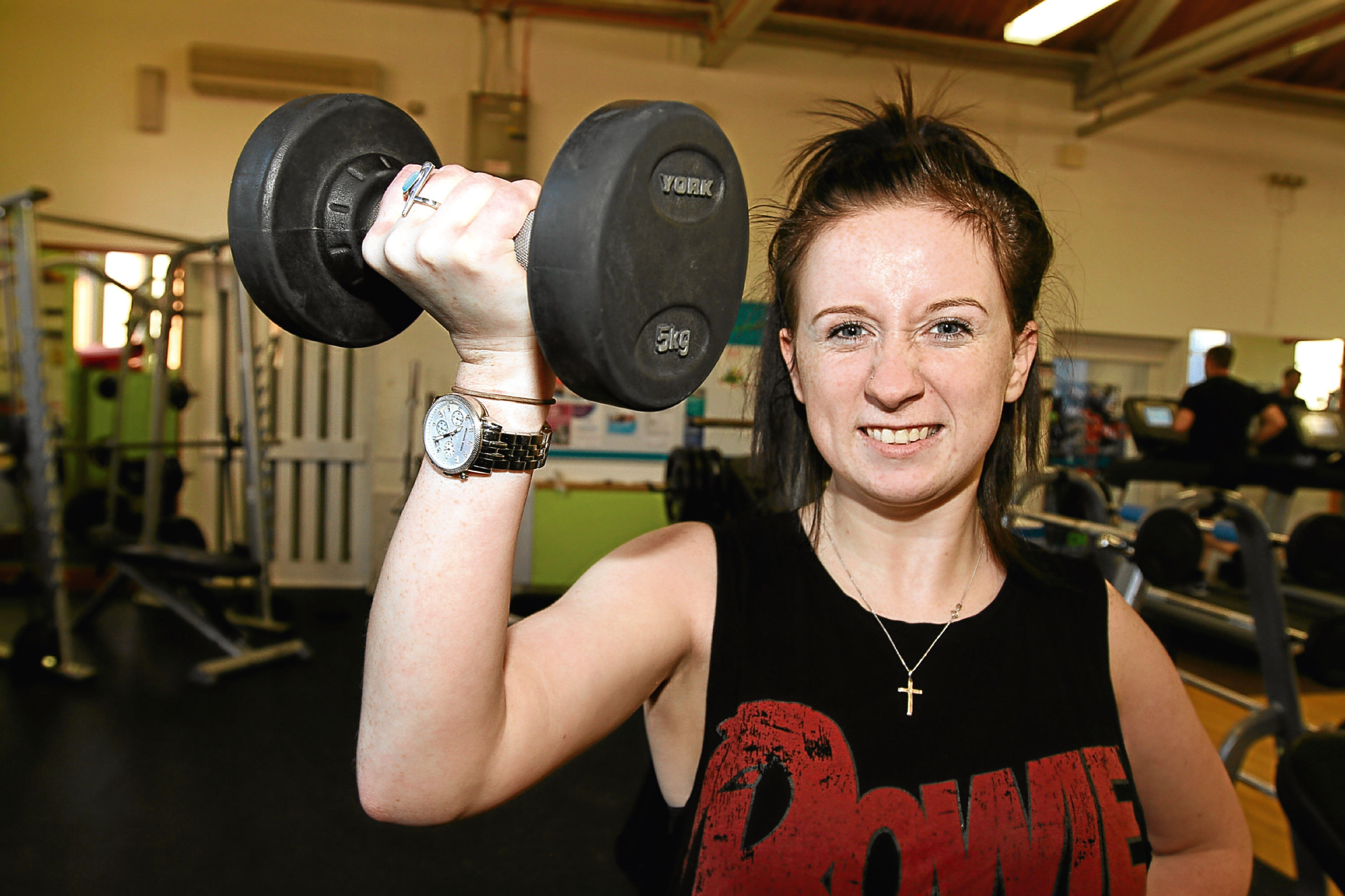 Tele reporter Amy Hall continues her fitness programme at Lochee Sports Centre