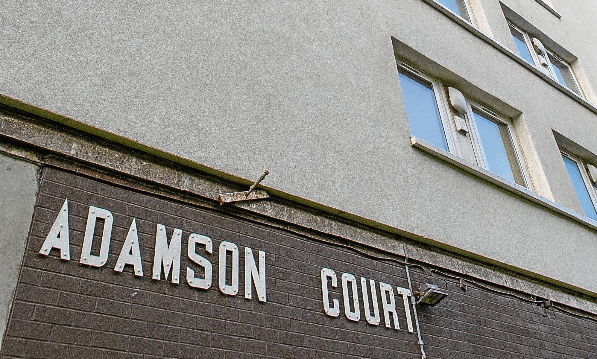 Adamson Court, Lochee (stock image)