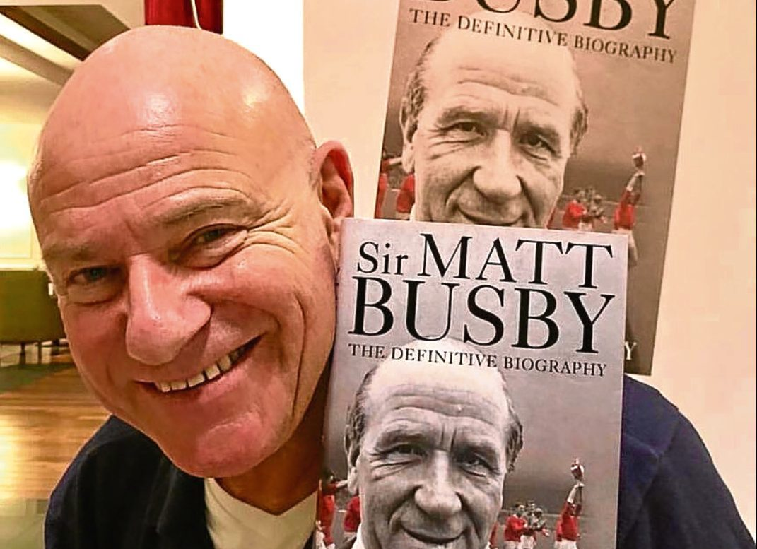 Paddy Barclay with his book.