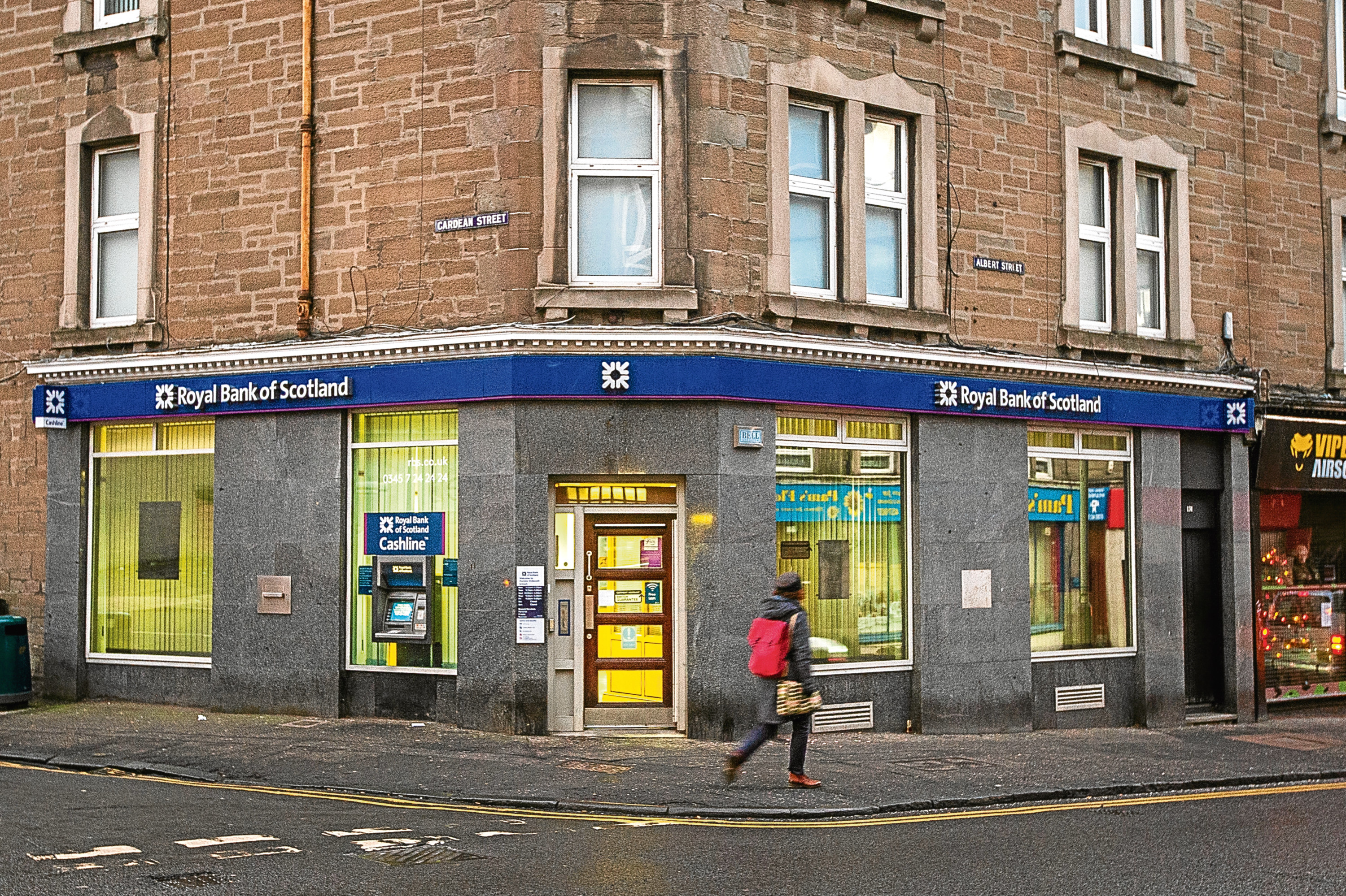 The Stobswell branch of RBS, which is due to close on June 20.