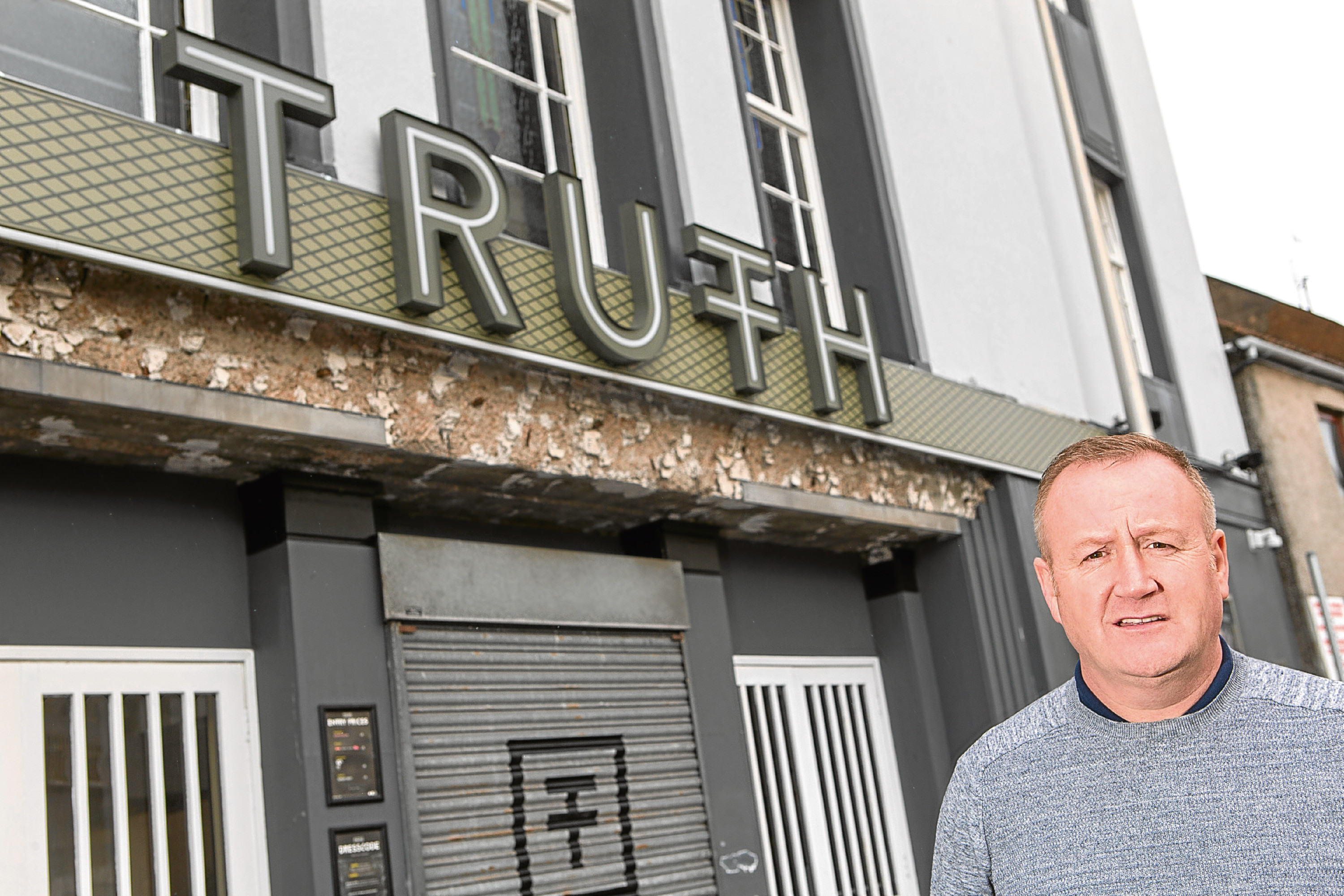 Lee Murray (48) outside his club Truth