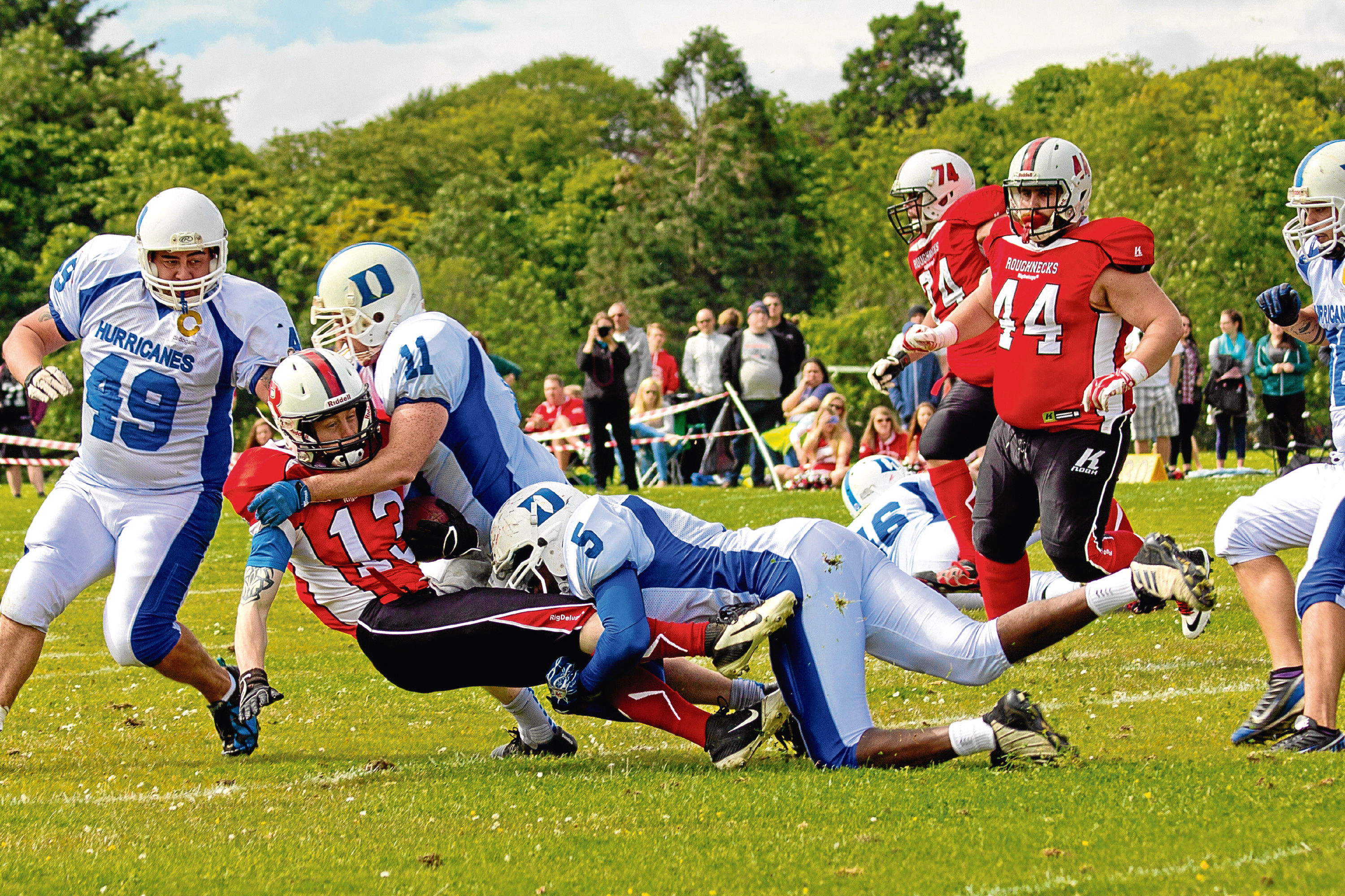 The Dundee Hurricanes in action during one of their games.