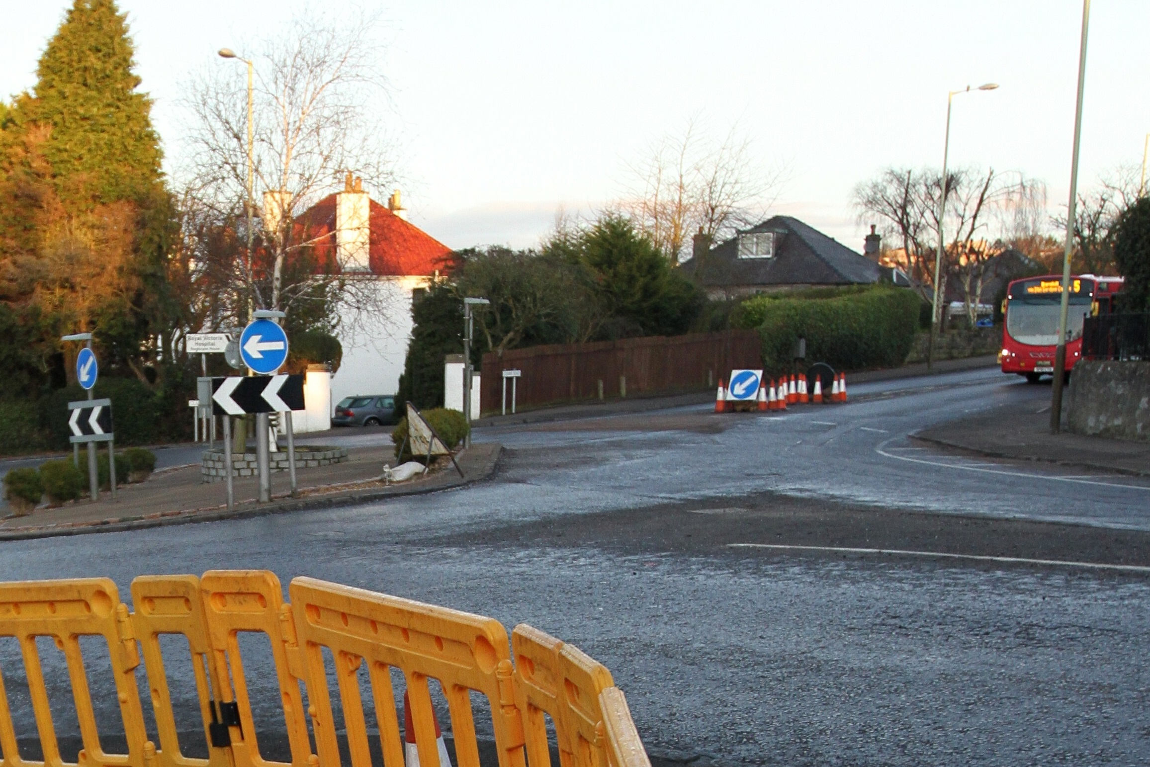 Glamis Road at the junction with Blackness Road
