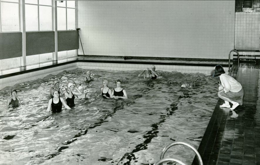 The school's pool (May 1966)