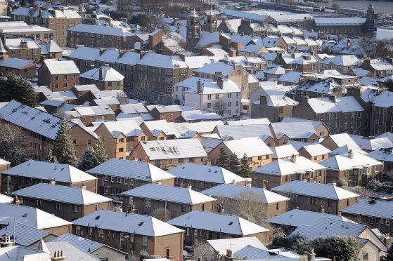 Snow in Dundee this week