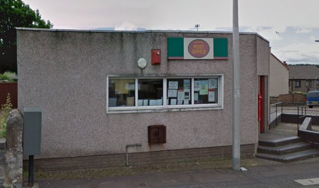 The post office at Kinglassie Main Street (stock image)