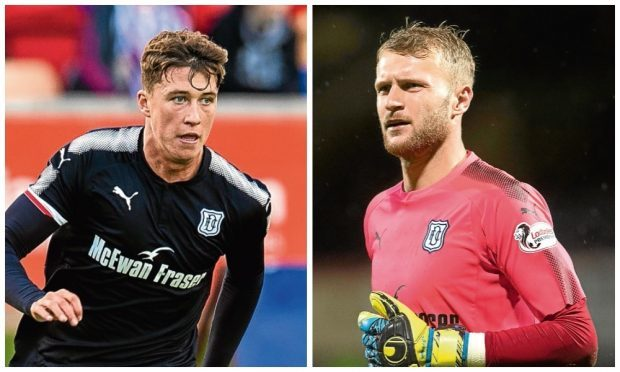 Dundee's Jack Hendry and Scott Bain (on loan at Hibs) have been linked with Celtic.