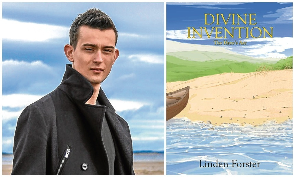 Linden Forster is preparing to release his debut novel Divine Invention, about a group of seafaring islanders.