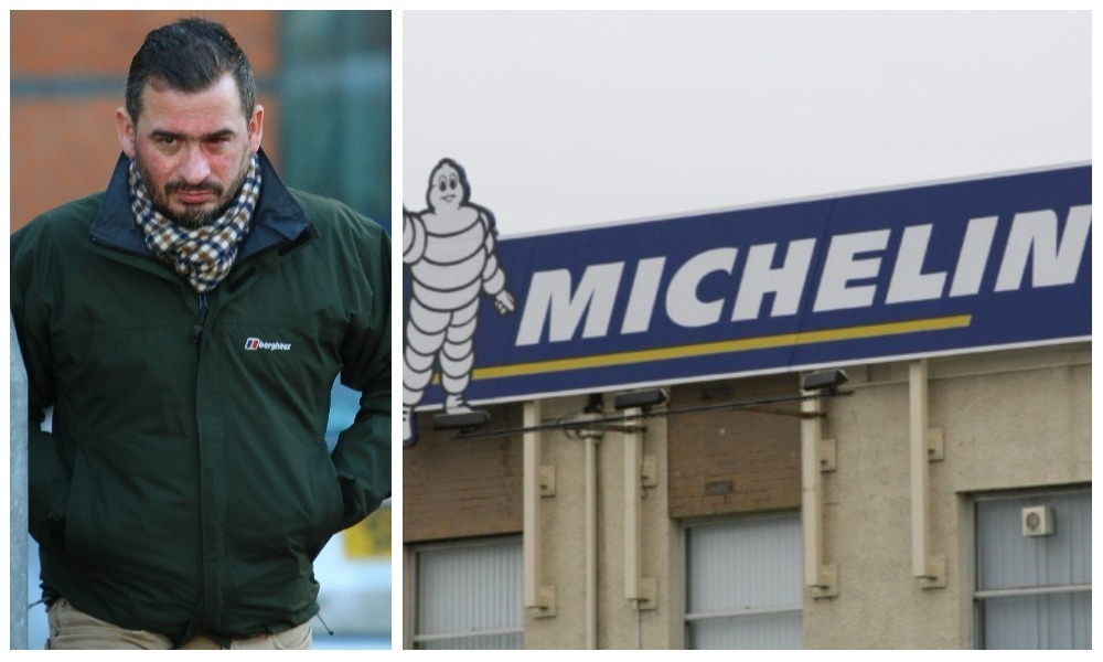 Stan Reid has taken his former employer Michelin to a tribunal over his dismissal.