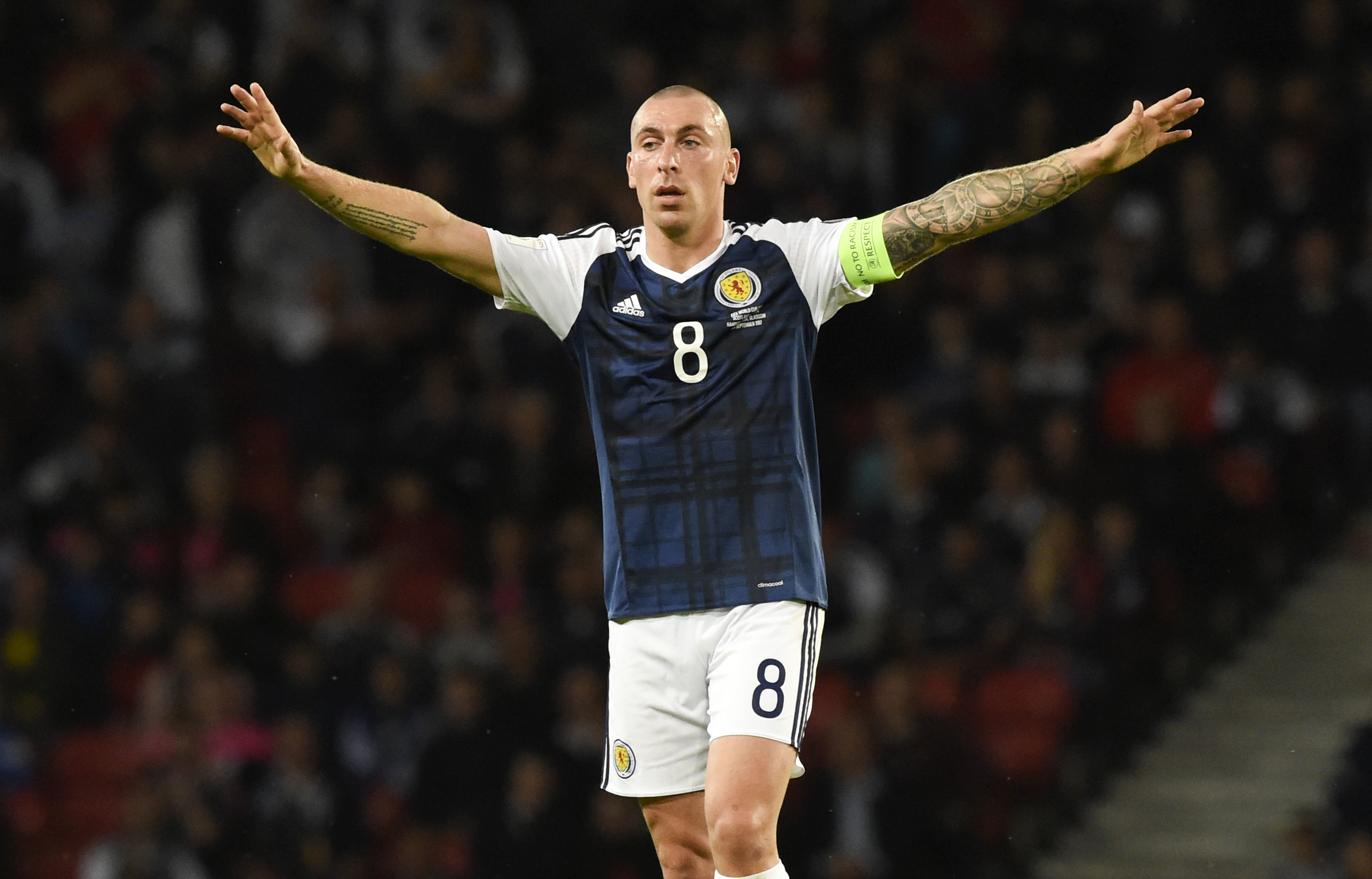 Scott Brown has announced his retirement from Scotland duties - again.