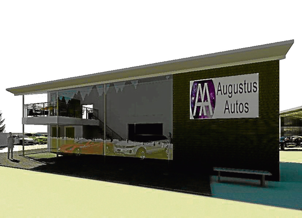 An artist's impression of how the showroom could look.