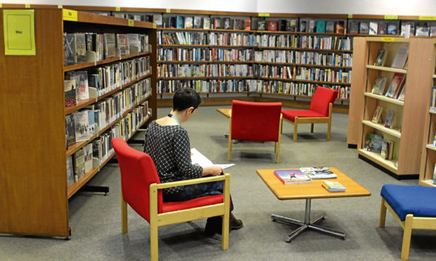Inside Dundee Central Library