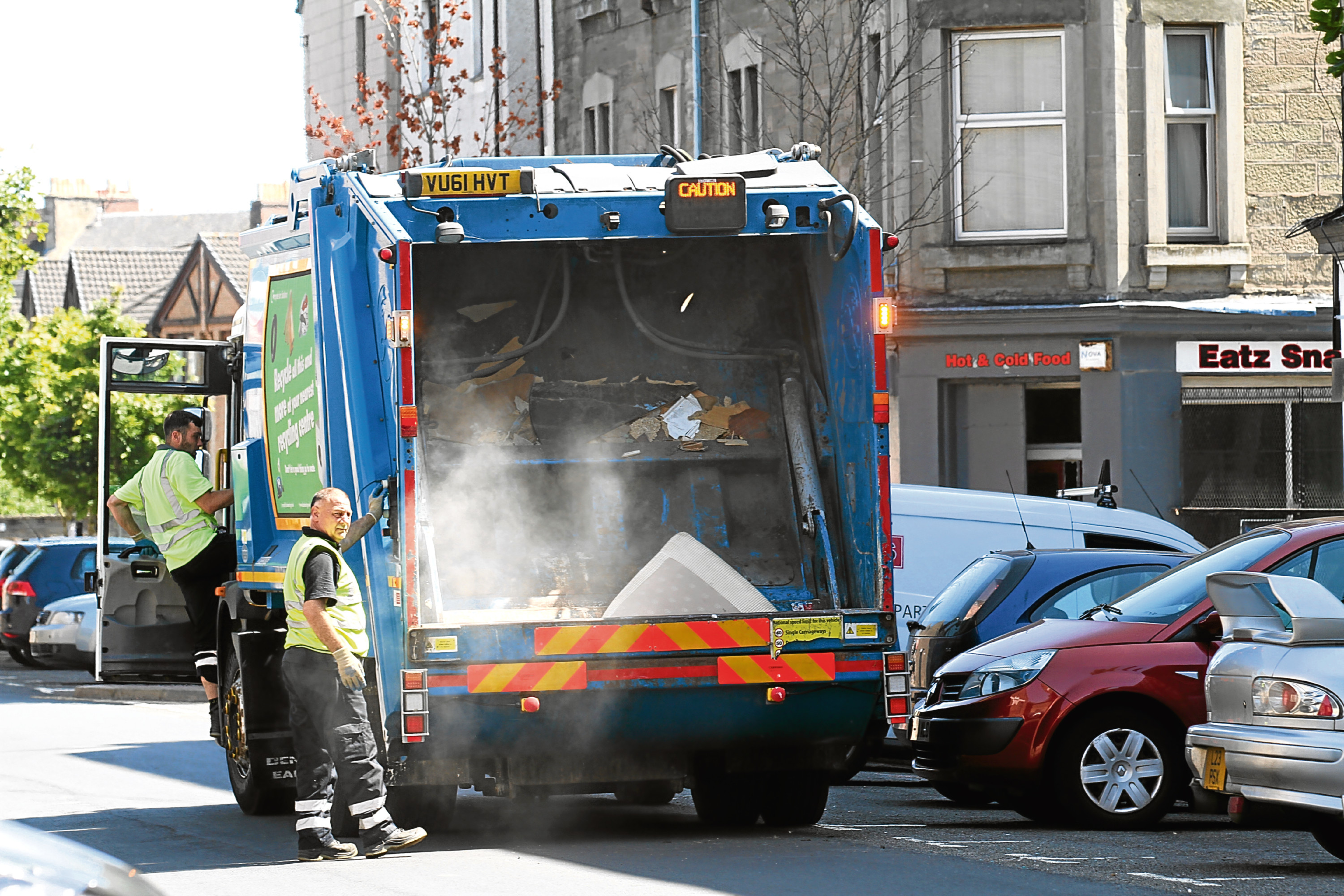Staff have been redeployed to help with bin collections