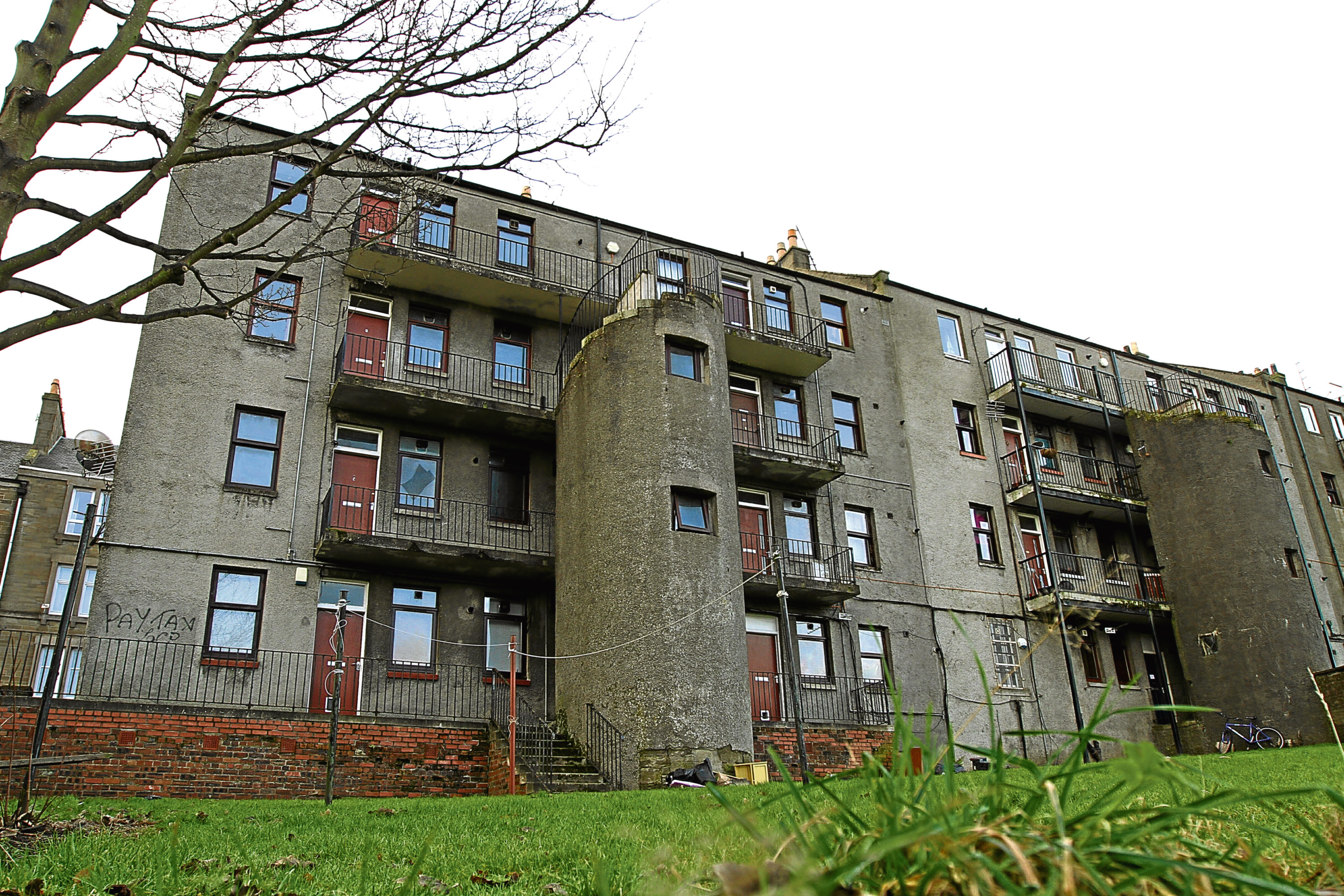 The block of flats at 219 to 245 Blackness Road