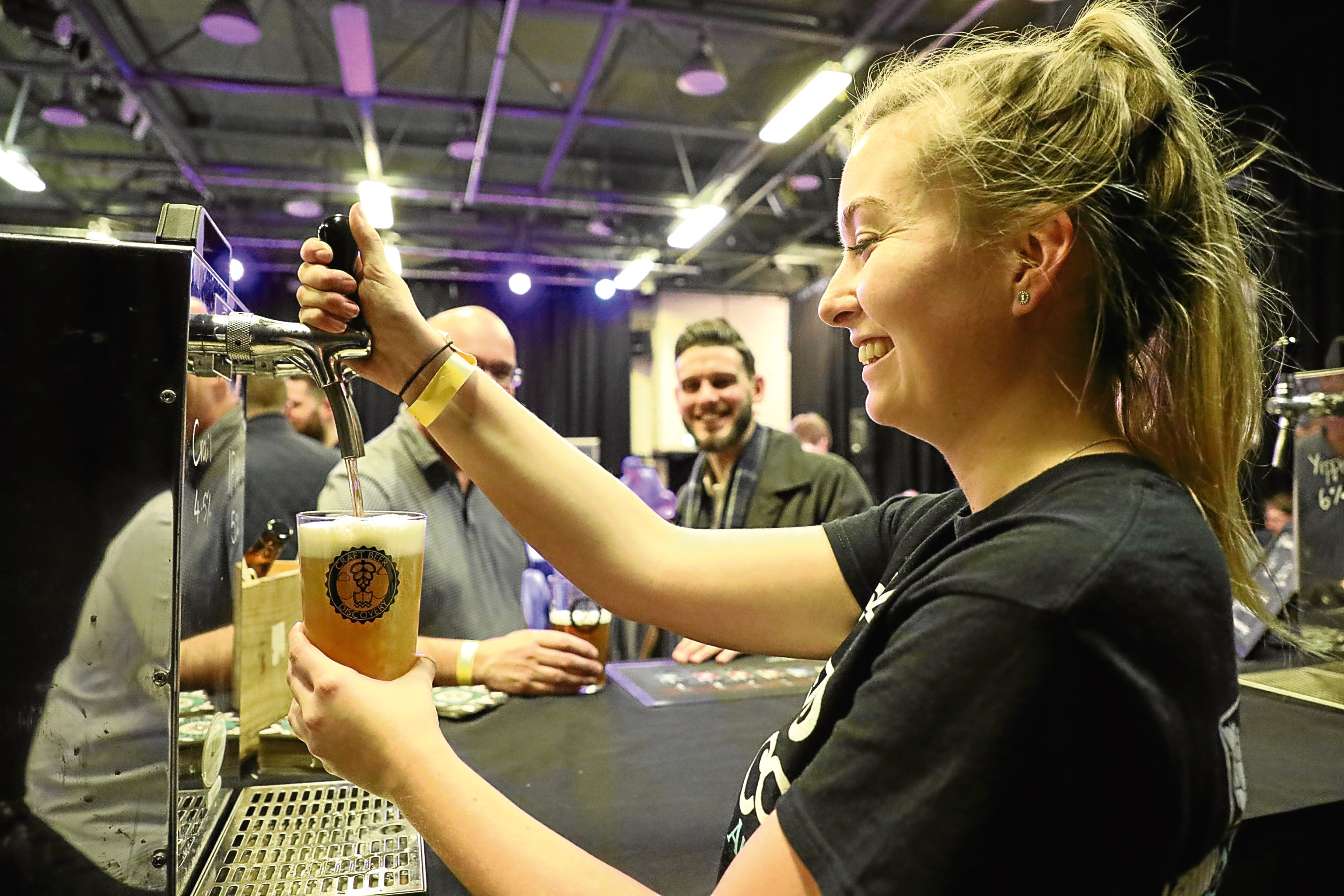 Megan Cleary, of St Andrews Brewing Company, pours a pint