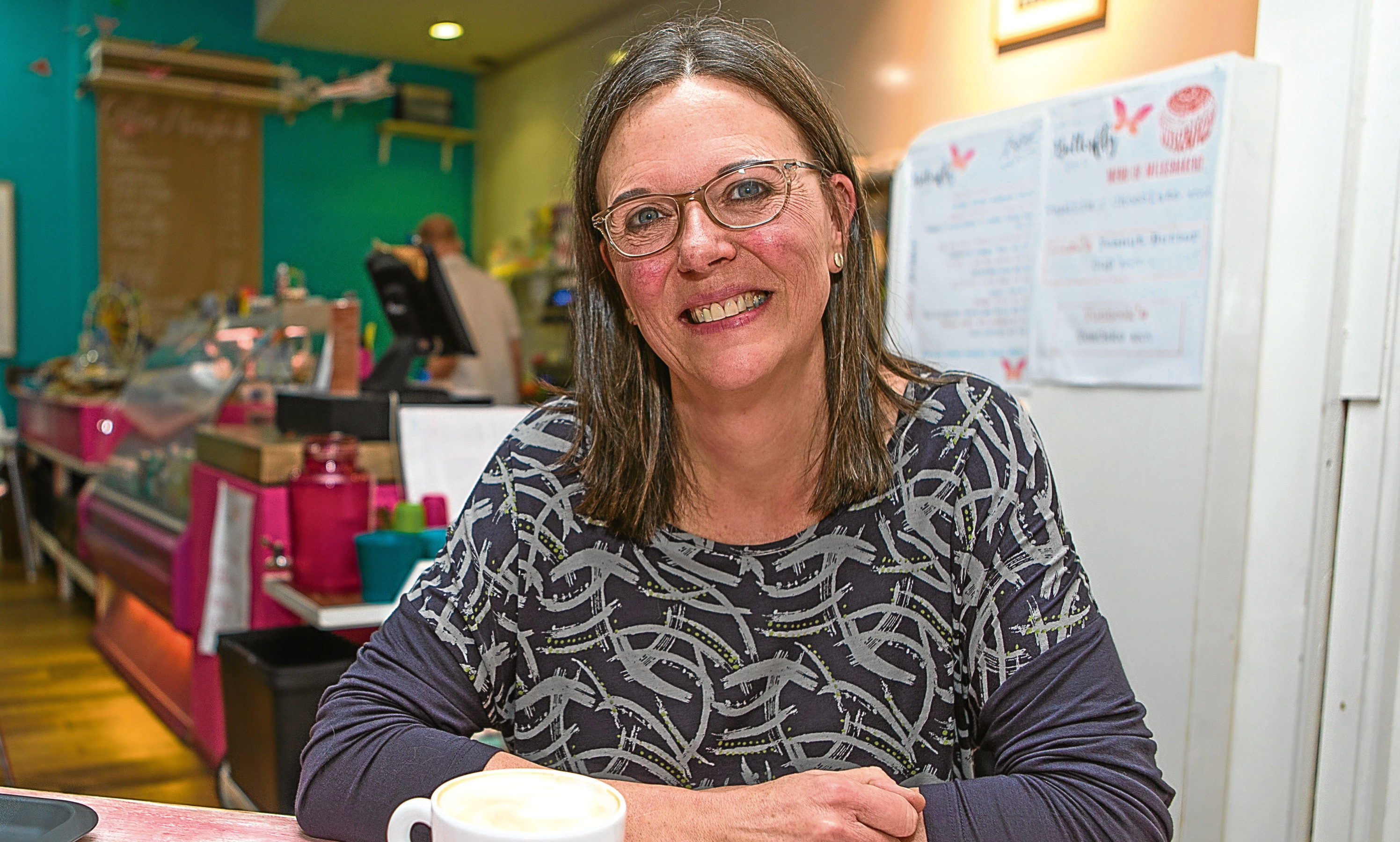 Nurture Parents co-ordinator Ali Millican (55) at Butterfly Cafe, where the group plans to meet on Wednesday mornings to help new parents