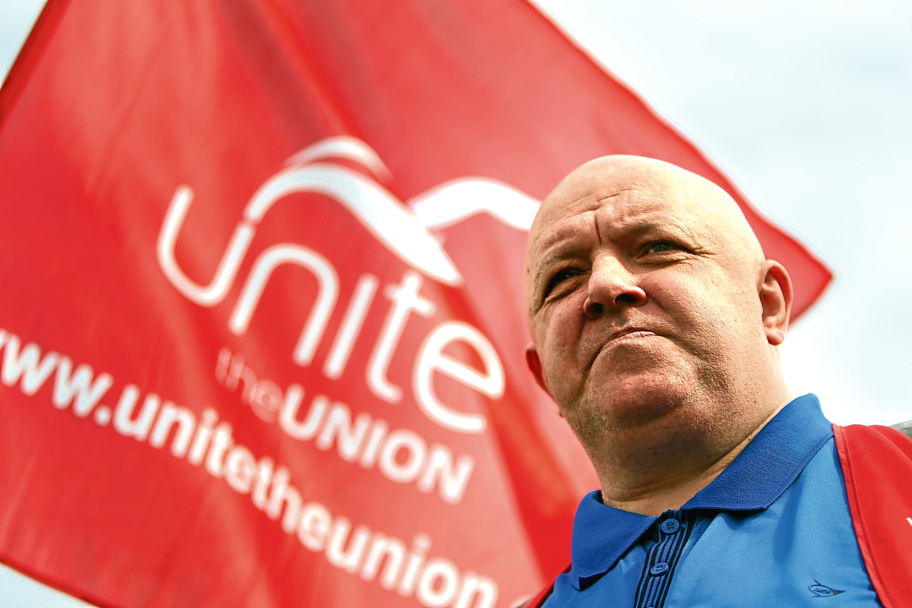 """Unite rep Graham Nelson said porters at Ninewells Hospital """"are on their knees""""."""
