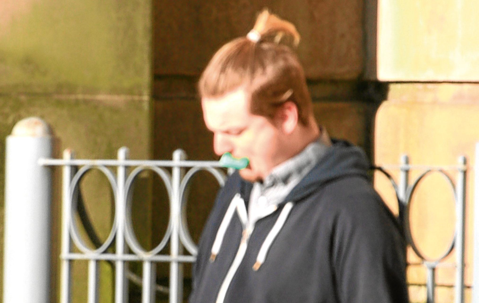 Aaron Scott outside Dundee Sheriff Court