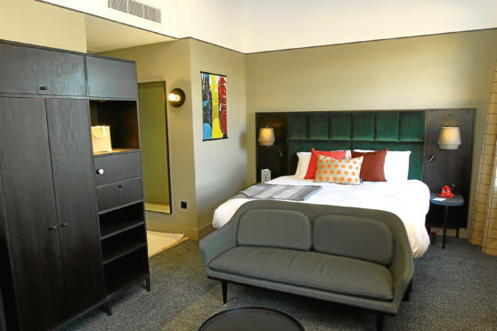 One of the new Hotel Indigo rooms.