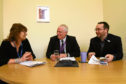 Tele reporter Lindsey Hamilton interviews Paul Clancy and Cllr Gregor Murray