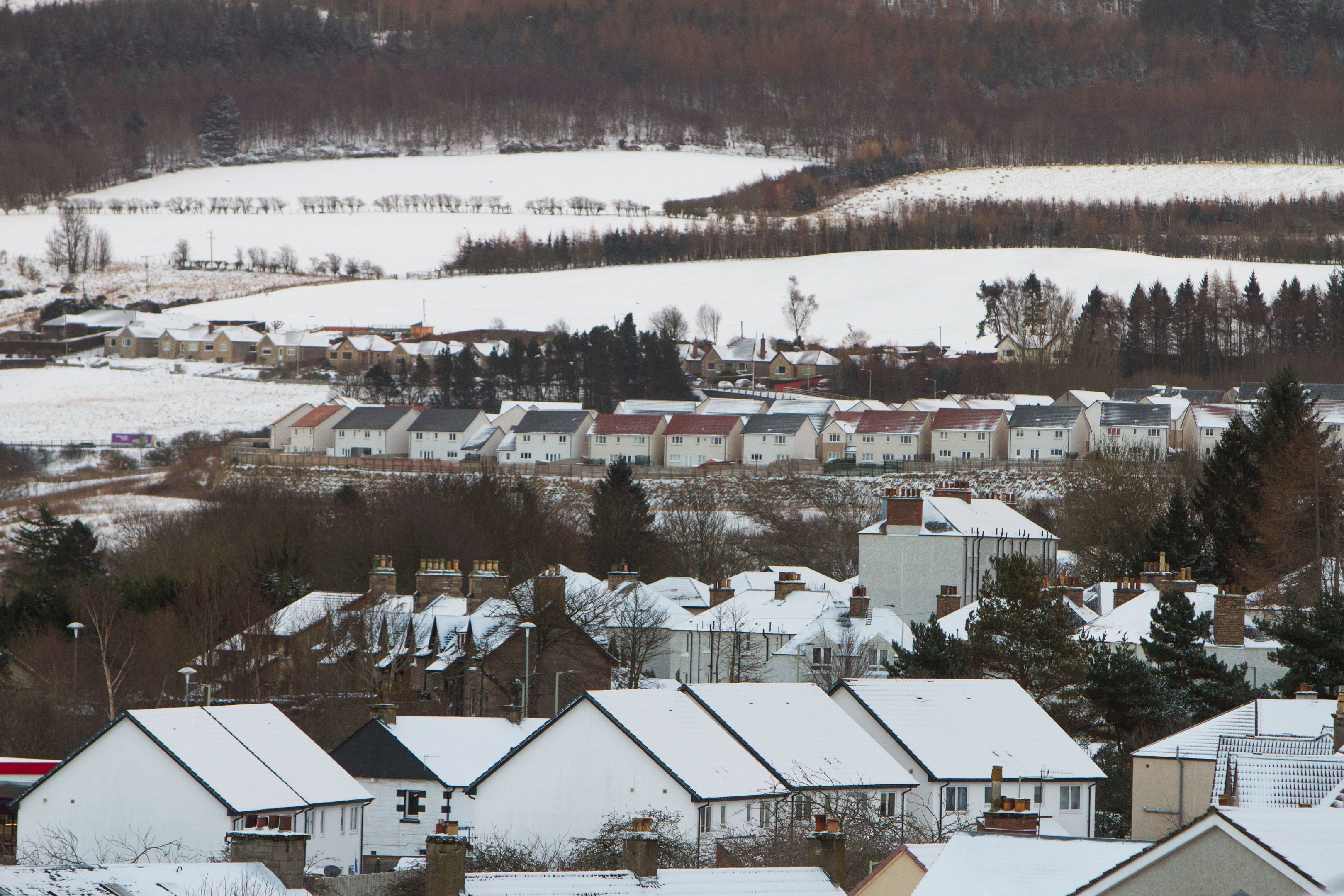 A snowy Dundee this morning.