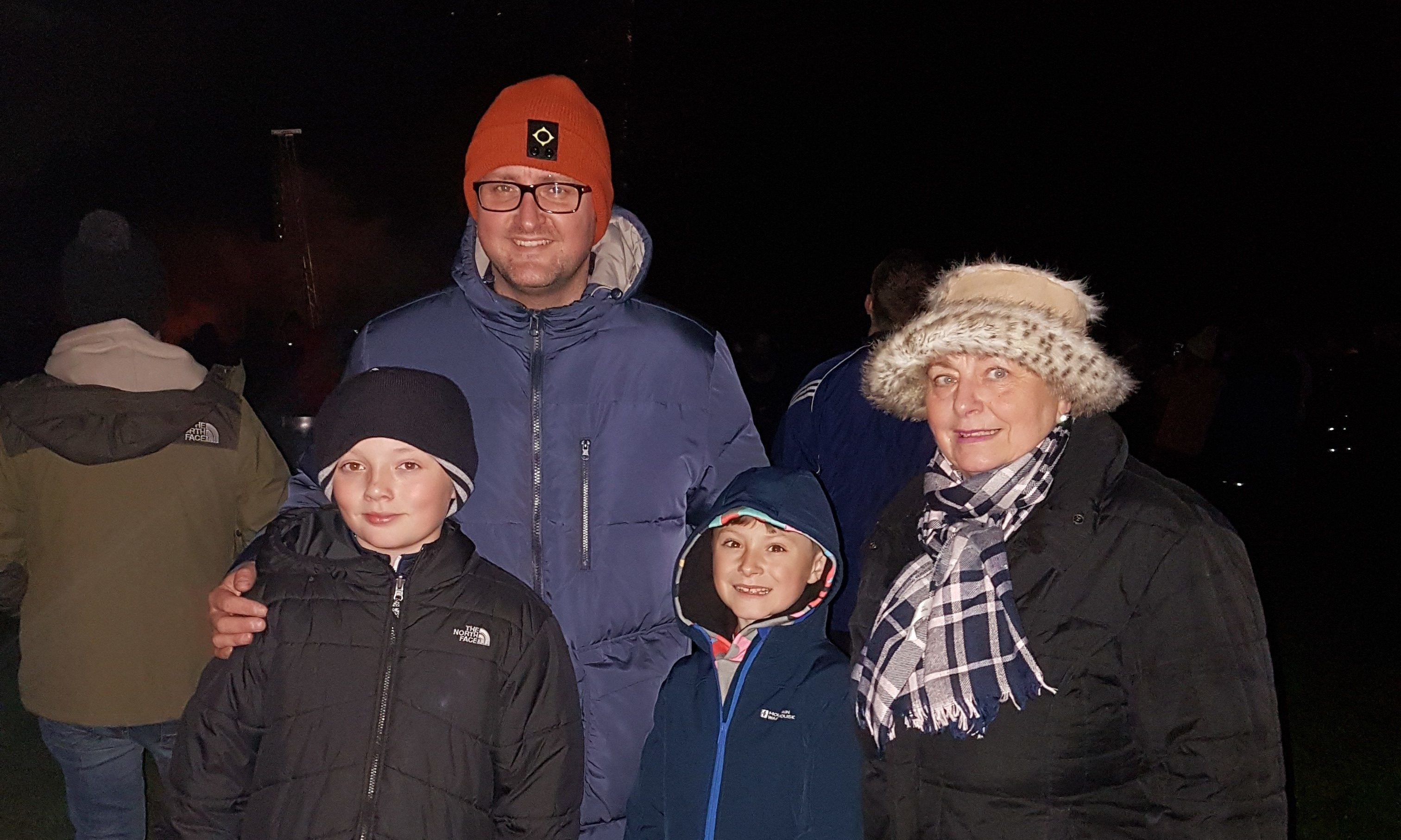 Scott Millar with his mum Anne, his son Owen, 9, and his nephew Josh, 10