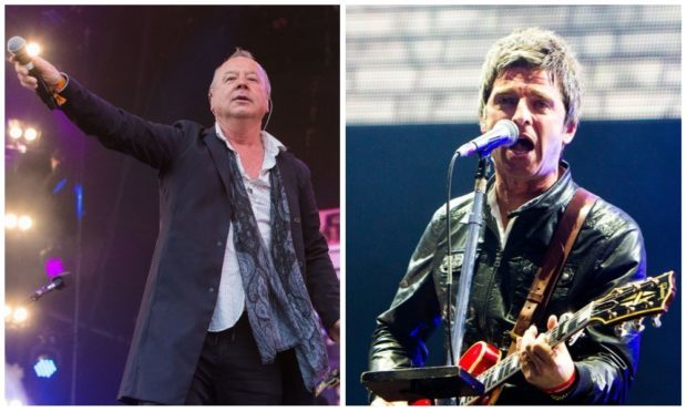 Jim Kerr of Simple Minds and Noel Gallagher will perform in Perth on the Saturday