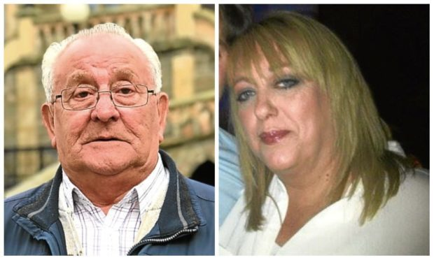 David Ramsay Snr met with NHS bosses over the death of his son David in Templeton Woods in 2016. Right: Dale Thomson's mum, Mandy McLaren.