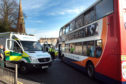 Emergency services at the scene in Fort Street, Broughty Ferry on April 6 2015.