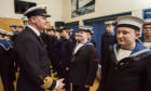 Area Officer Captain Peter Adams inspects the cadets