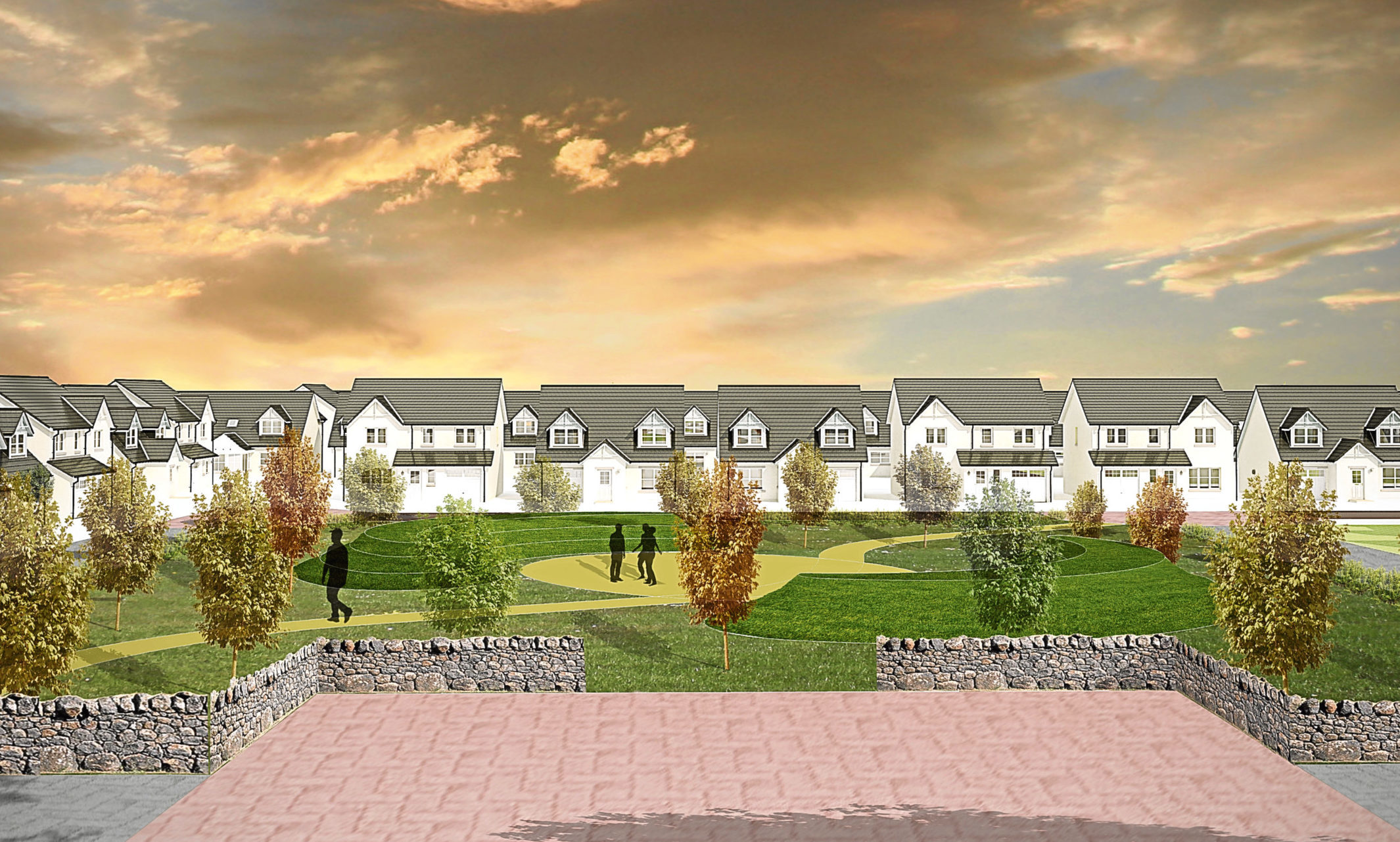 An artist impression of the proposed development