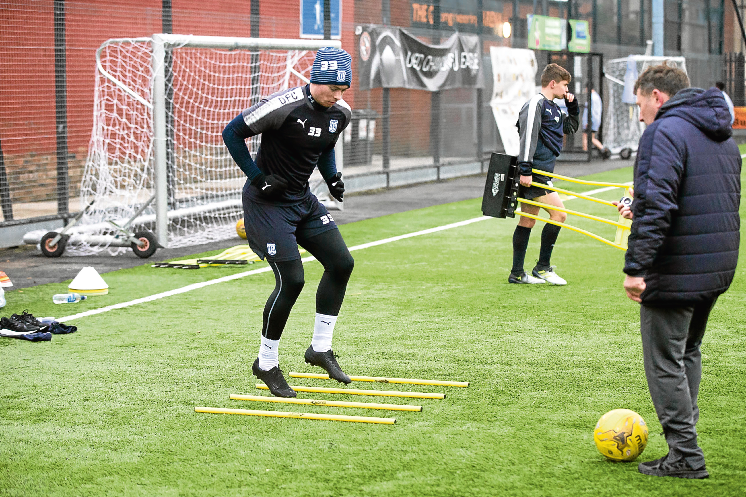 Craig Wighton during Dundee FC training at the GA Arena, Dundee