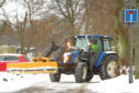 A tractor clearing now and gritting at Shiell Street in Broughty Ferry a month ago