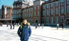 Callum Bowsie outside Tokyo Station