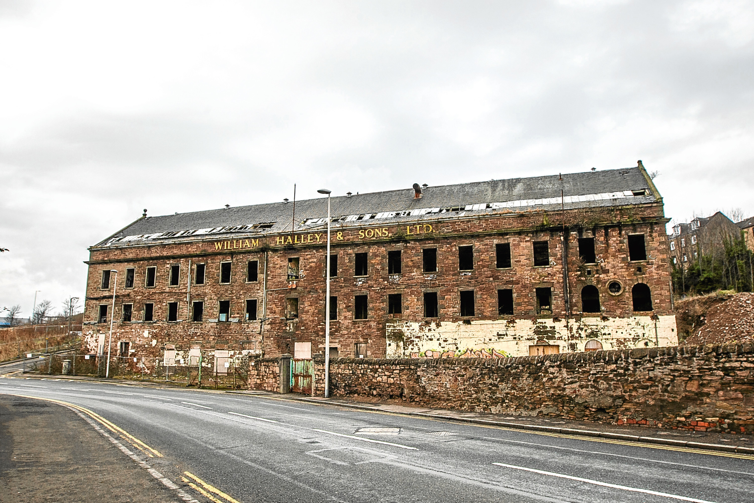 The former William Halley & Sons jute mill in Broughty Ferry Road.