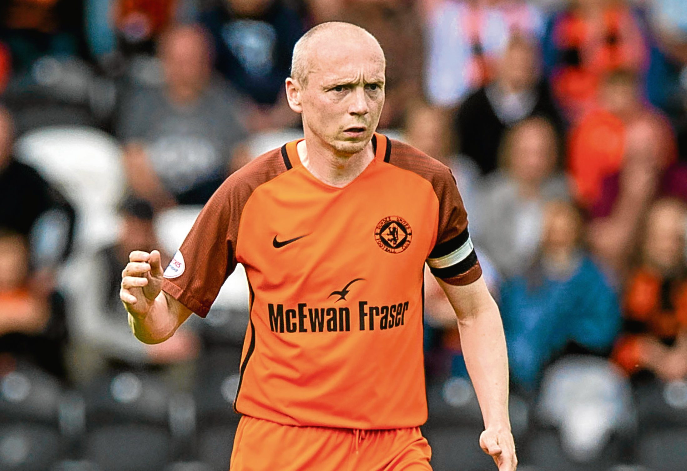 Willo Flood in action for Dundee United.