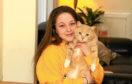 Rebecca-Rose McCreadie at home with her beloved cat Frankie.