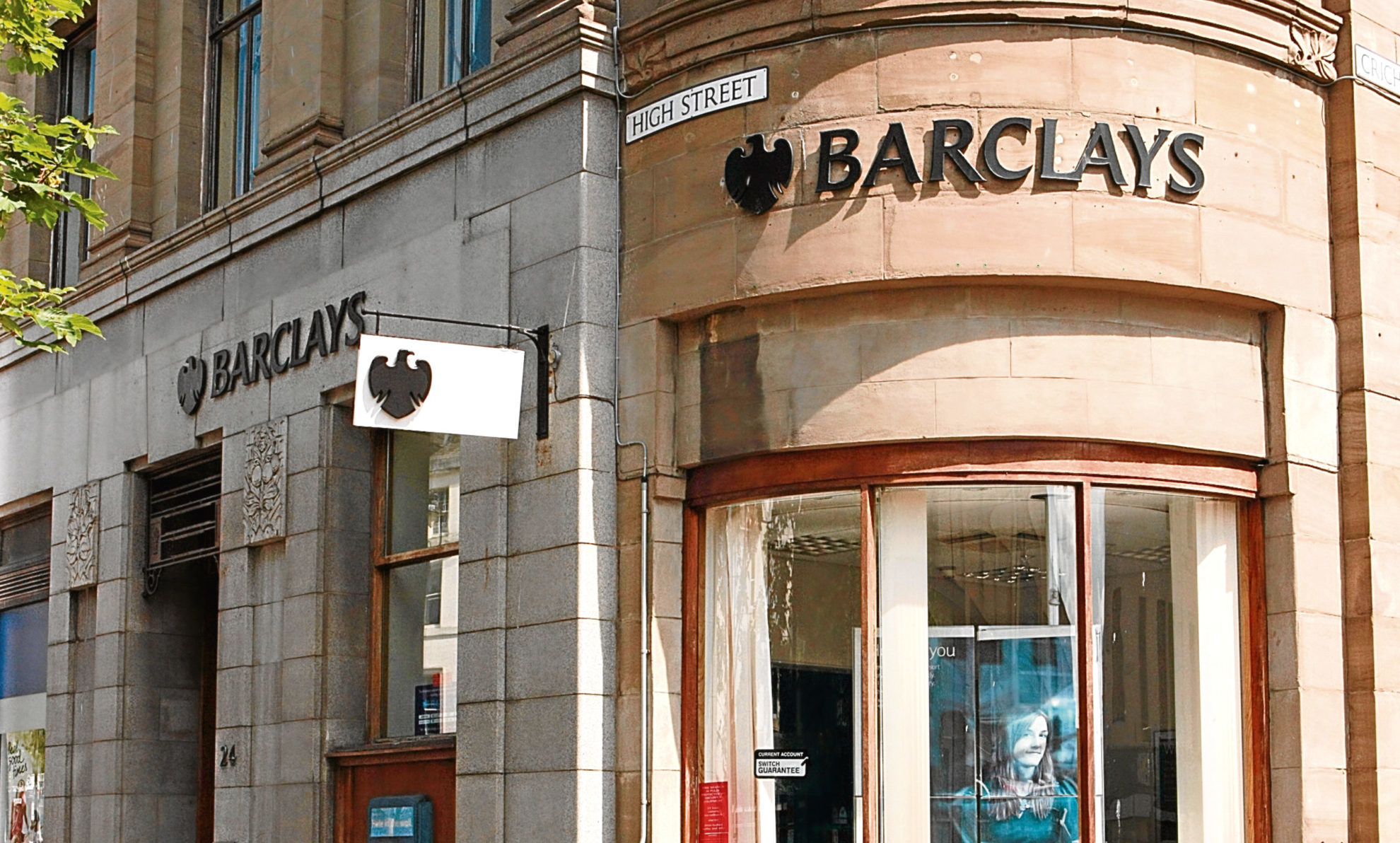 Barclays Bank, at the corner of High Street and Crichton Street, Dundee