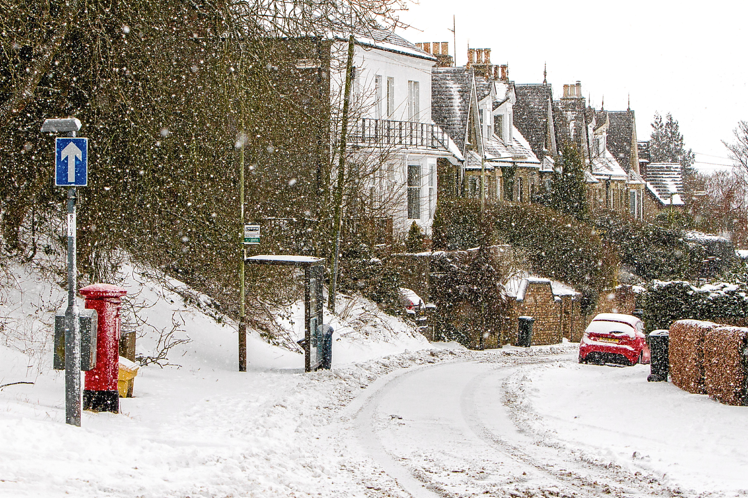 St Magdalene's Road, Perth, during the Beast from the East earlier month