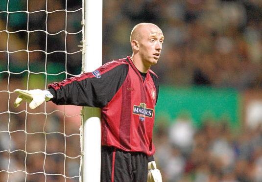 Derek Soutar in action for Dundee