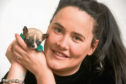 Robyn Boyd with tiny chihuahua Bruce