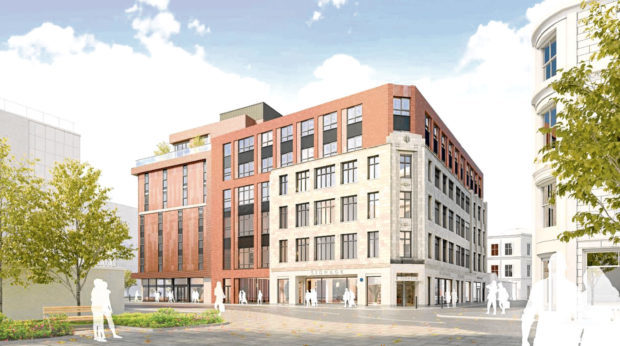 An artist's impression of the redevelopment