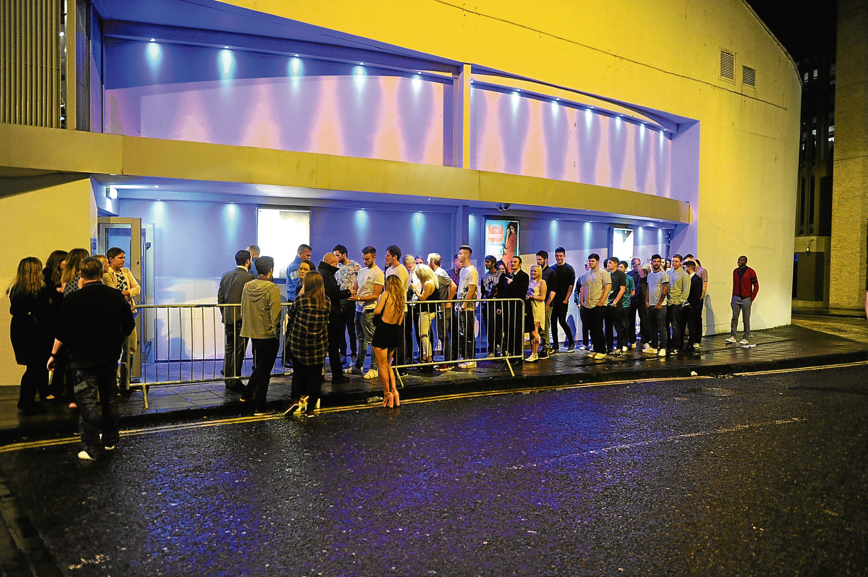 Revellers queue for Liquid nightclub. This week it was announced the venue was to shut down