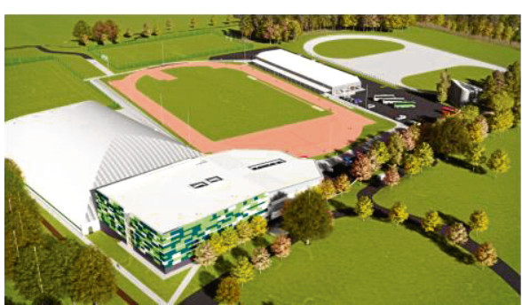 An artist's impression of the new sports centre