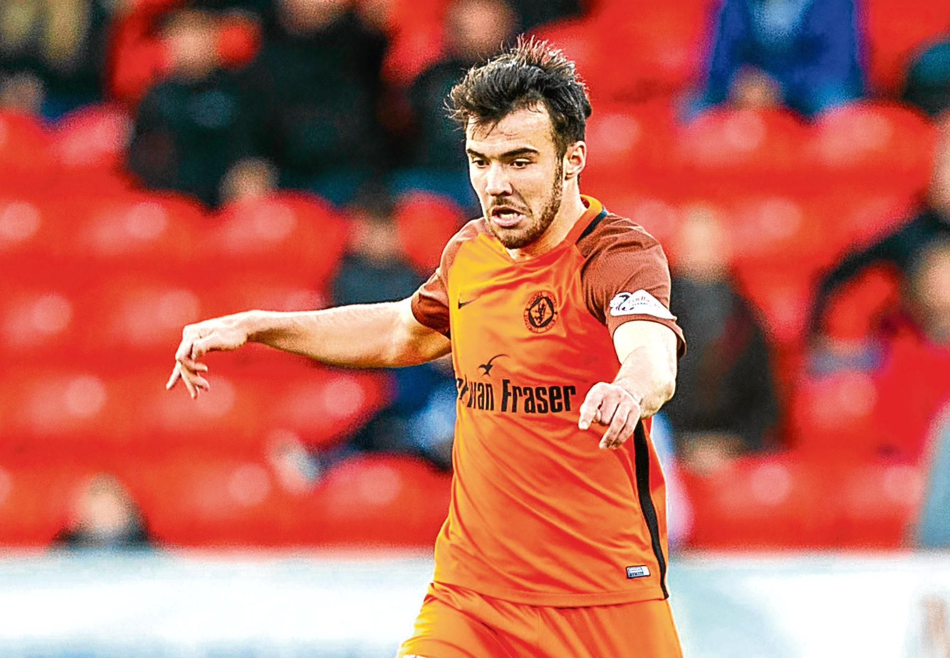 Dundee United midfielder Scott Fraser.