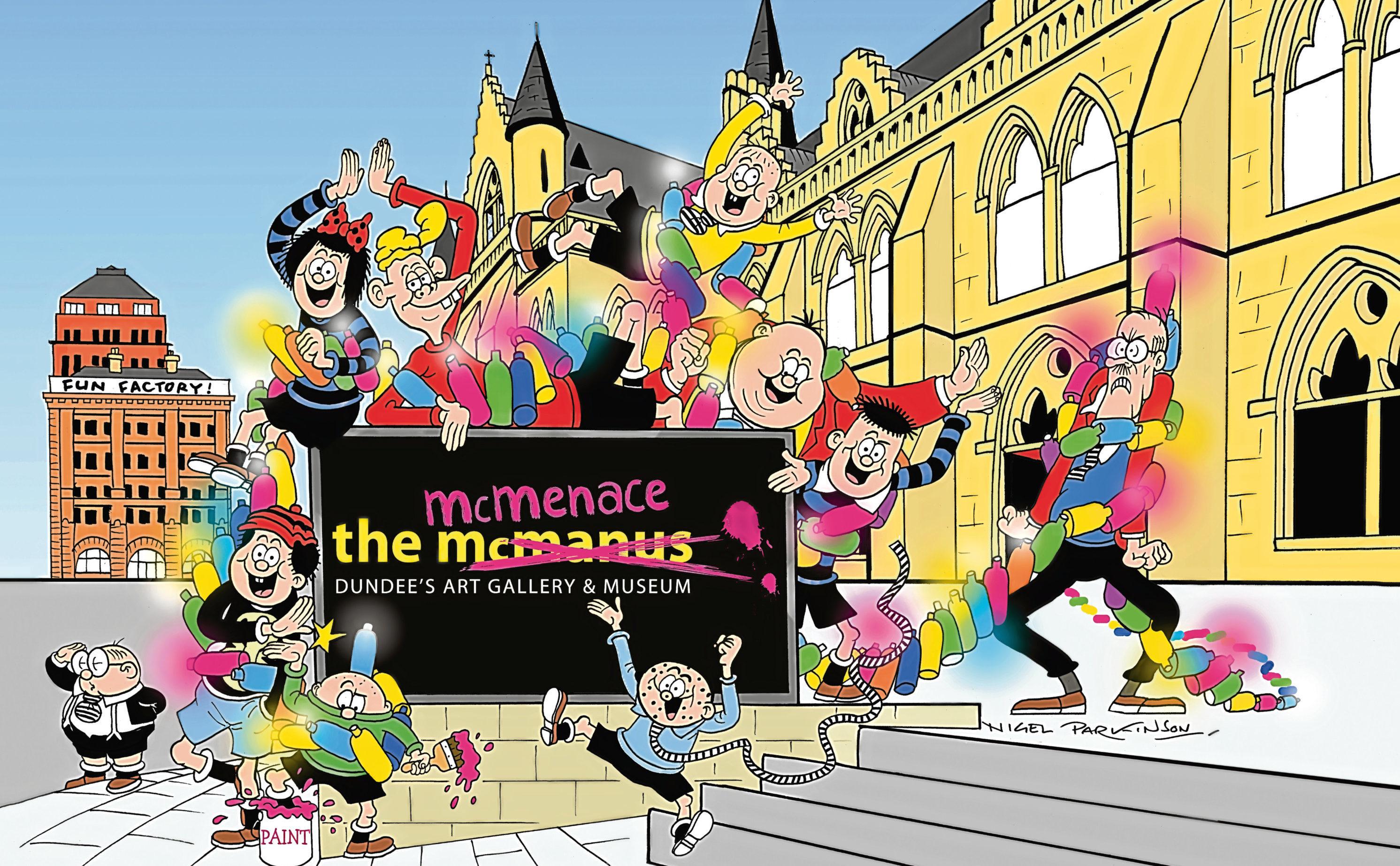 Beano comic illustrator Nigel Parkinson created an original comic strip starring The Bash Street Kids.