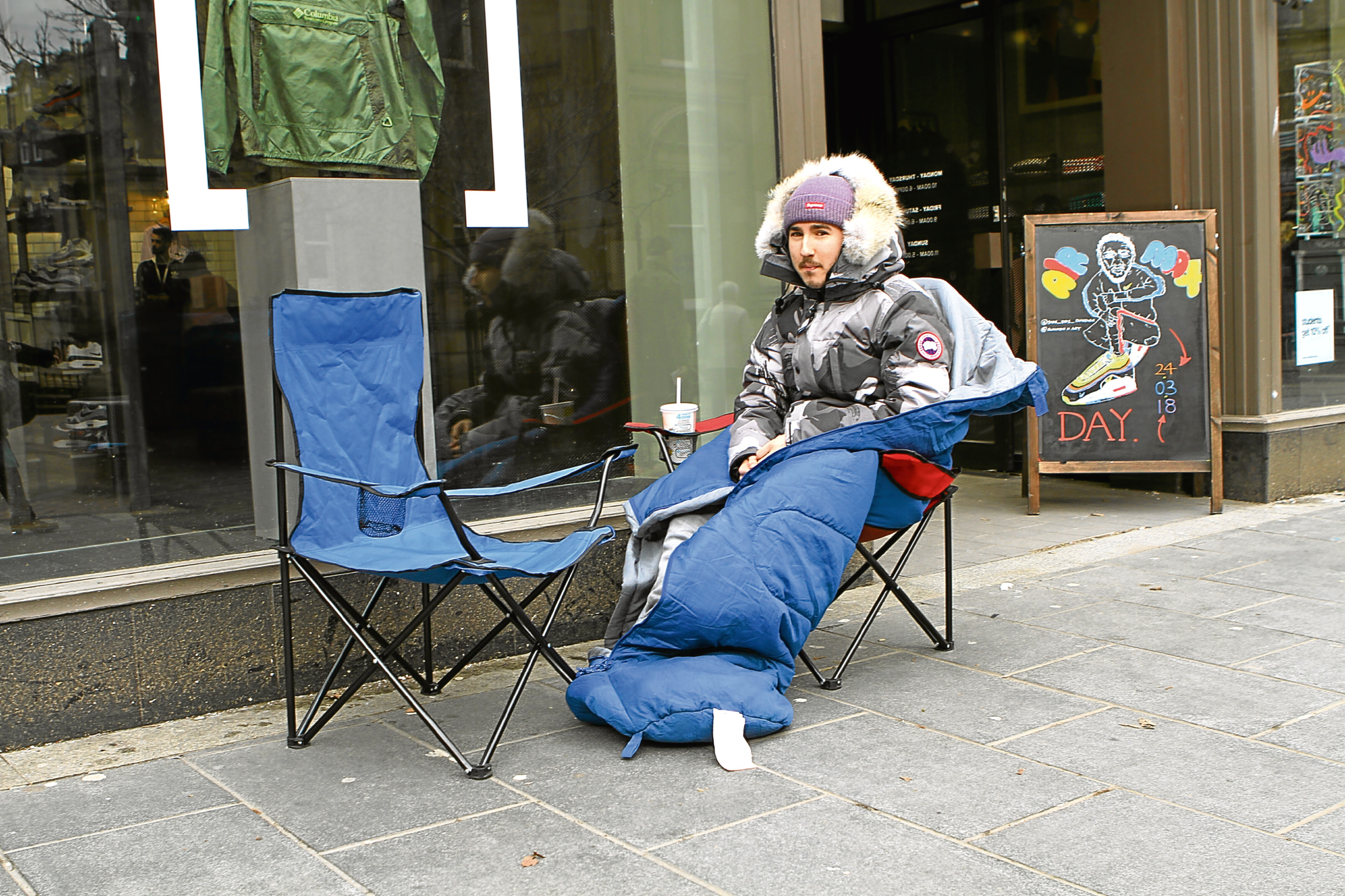 Connor Curran camped outside Size?, waiting for the Nike Sean Wotherspoon trainers to go on sale.